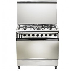 Universal Gas Cooker 5 Gas Burners Stainless With Fan and Timer: 9605-22