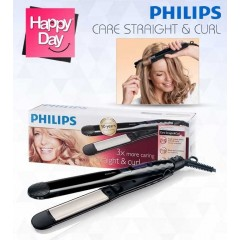 Philips Care Straight & Curl Straightener: HP8345/00