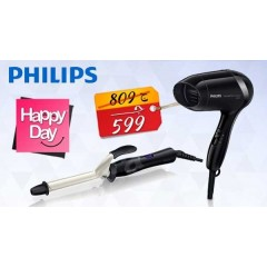 Philips CurlCeramic  16 mm Curling iron + Philips Essential Care Hair Dryer 1200 Watt