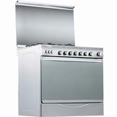 Universal gas cooker 5 Gas Burners silver : Bombay 6505