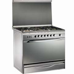 Universal gas cooker 5 Gas Burners silver safty : Bombay 6909