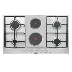 Glem Gas Hob 6 burner 4 gas burners + 2 hot plates 90 cm: GT968NGIX