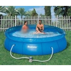 Bestway Swimming Pool 3638 Liter With Filter Pump Circular Fast Set Pool: 57112