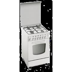 Glem Gas 4 Gas Burners Cooker White: EB5504GX01AT