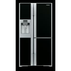 هيتاشي ثلاجة 30 قدم 3 باب بالآيس ميكر لون أسود R-M8060GHT GBK
