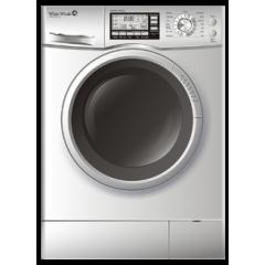 وايت ويل غسالة ملابس 7 كيلو 1200 لفة بشاشة ديجيتال لون سيلفرWD-12710LS-LCD