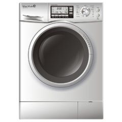 White Whale Washing Machine 7Kg 1200rpm: WD-12710LS-LCD