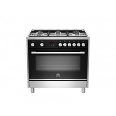 La Germania Cooker 90*60 Professional 6 Burners Stainless Steel Full Safety Digital: TUS96C81BX