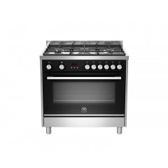 La Germania Cooker 90*60 Stainless Steel 5 Burners Iron Cast With Fan Digital: TUS95C81BX