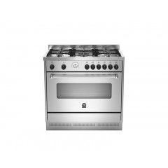 La Germania Cooker 90*60 Stainless Steel Iron Cast Full Safety With 2 Fans: AMS95C81AX