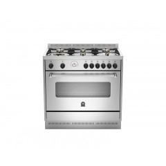 La Germania Cooker 100*60 Stainless Steel 6 Burners Full Safety Iron Cast With 2 Fans: AMS96C81AX