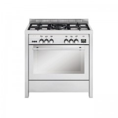 Glem Gas Monolith Cooker 60*90 cm 5 Burners Stainless Steel With Fan And Additional Self-insulator: MLB612RI01A