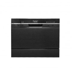 White Whale Dish Washer 6 Person BLACK Color: DW-P765BK