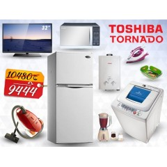 Marriage Package Toshiba Refrigerator , Washing Machine , TV , Vacuum Cleaner , Microwave , Gas Water Heater , Blender And Iron