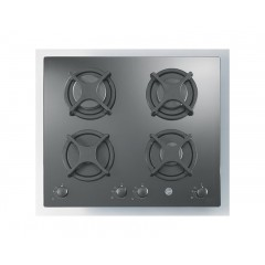 Hoover Built-In Hob Gas 60cm 4 Burners Tempered Black Glass: HGV640B/1