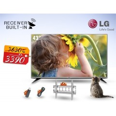 "LG 43"" LED TV Full HD With Built-In HD Receiver: 43LH548V"
