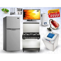Marriage Package Refrigerator, Cooker, Washing Machine, TV, Gas Heater , Vacuum Cleaner, Gifts: MP9