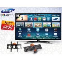"Samsung LED 58"" TV Full HD Smart Wireless + Gifts: 58J5200"