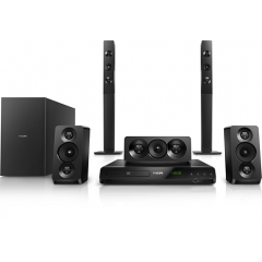 Philips 5.1 DVD Home theater Double basspipes HDMI ARC & USB Built-in Bluetooth 1000W HTD 5550/98