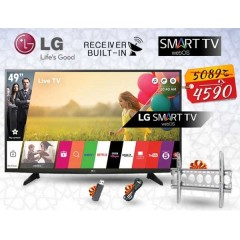 """LG 49"""" SMART LED FULL HD 1080p TV with Built-in Receiver + Gifts: 49LH590V"""