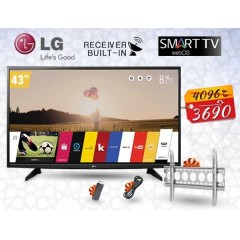 """LG 43"""" SMART LED FULL HD 1080p TV with Built-in Receiver + Gifts: 43LH590V"""