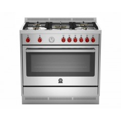 La Germania Cooker Prima 5 Gas Burners size 90x60 cm with 2 Fans RIS95C81AX