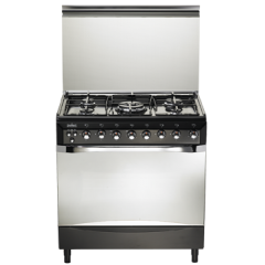 Universal 5 burners gas cooker,Self ignitions,safety,Internal light  E-9605  BL