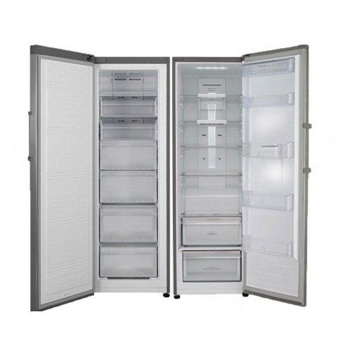 White Whale Twins 655 Liters 24 Feet NoFrost Refridgerator And Freezer Silver Color: WR-3068KSS+WF-3068KSS