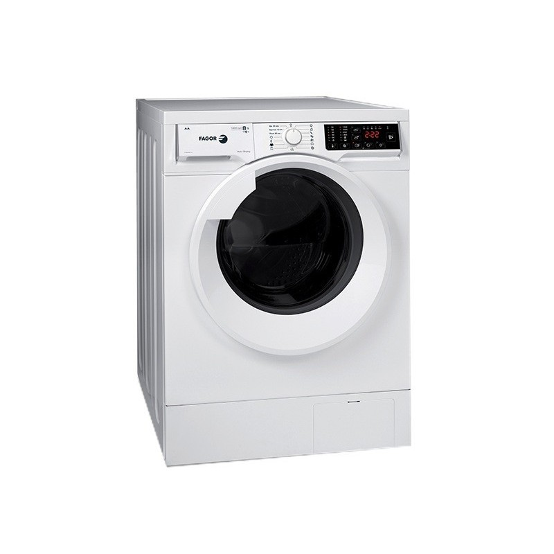 fagor washing machine 8kg with dryer 5kg rpm white color 1fse8214