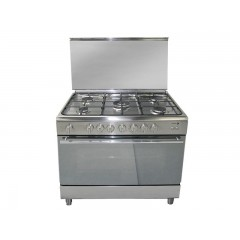 Fagor Gas Cooker 5 Burner 90*60 cm Stainless Steel Full Safety With Fan: 5CF-970