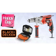 Black & Decker CORDED DRILLS + Drilling & Screwdriving Set 30 Piece: KR703K+A7183