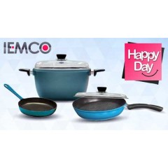 IEMCO Kitchen Set Pot, Pan and Grill Anti-Sticking: IEMCO 3 SET