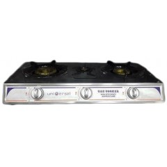 Universal Gas Cookertop 3 Burners Stainless Top: 6005