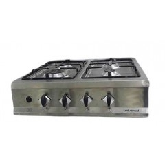 Universal Gas Cookertop 4 Burners Stainless: EC1204S