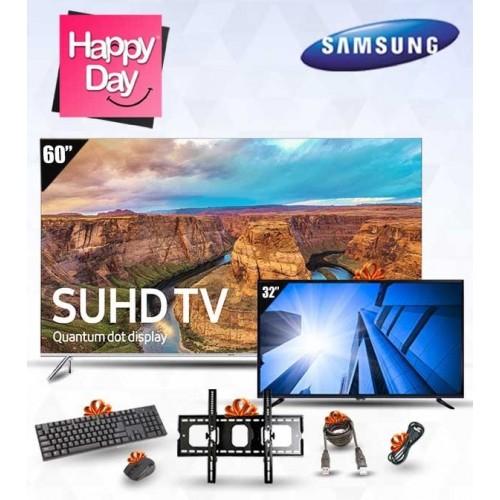 "Samsung TV 60"" LED SUHD 4K Smart Wireless + TV 40"" LED Full HD + FREE Gifts: 60KS8000"