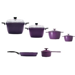 IEMCO Kitchen Set 4 Pots and Pan and Casserole Anti-Sticking: IEMCOSET6