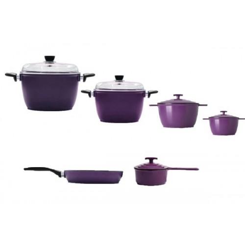 IEMCO Kitchen Set 4 Pots and Pan and Casserole Anti-Sticking: IEMCOSET6