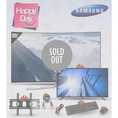 "Samsung TV 55"" SUHD 4K Curved Smart Wireless + TV 40"" LED Full HD + Gifts: 55KS9500"