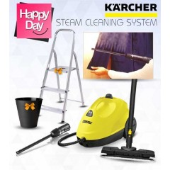 Karcher Steam Cleaner 1500 Watt + Textile Care Nozzle With Integrated Lint Remover For Steam Cleaners + Gift: SC2