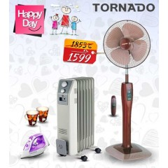 Mother's Day Package Oil Heater Tornado 7 fin + Tornado Stand Fan + Tornado Steam Iron: MDP4