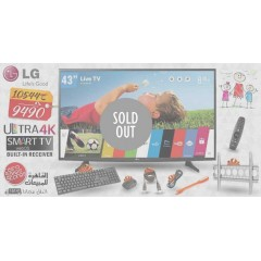 """LG 43"""" LED TV Ultra HD 4K Smart WebOS 2.0 With Built-In HD Receiver: 43UH617V"""