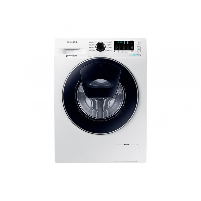 samsung washing machine 9 kg addwash technology ecobubble white ww90k5410uw as cairo sales stores. Black Bedroom Furniture Sets. Home Design Ideas