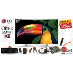 """LG OLED TV 55"""" CURVED Full HD 3D Smart Wireless WEBOS: 55EG910T"""