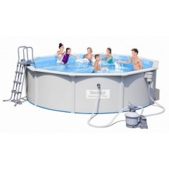 Bestway Swimming Pool 16296Lt With Filter Pump Circular Hydrium Titan Steel Pool: 56384