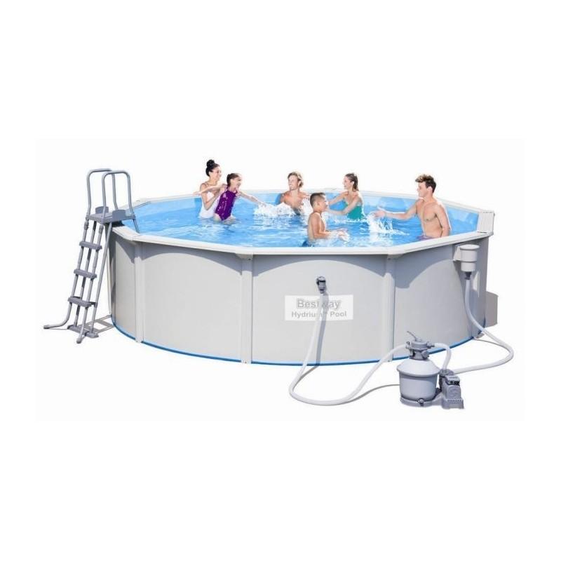 Bestway swimming pool 16296lt with filter pump circular for Swimming pool 120 cm tief