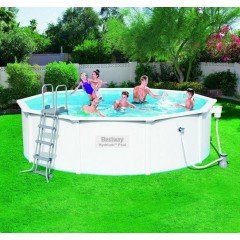 Bestway Swimming Pool 17430 Lt With Filter Pump Circular Leather and Aluminium: 56382