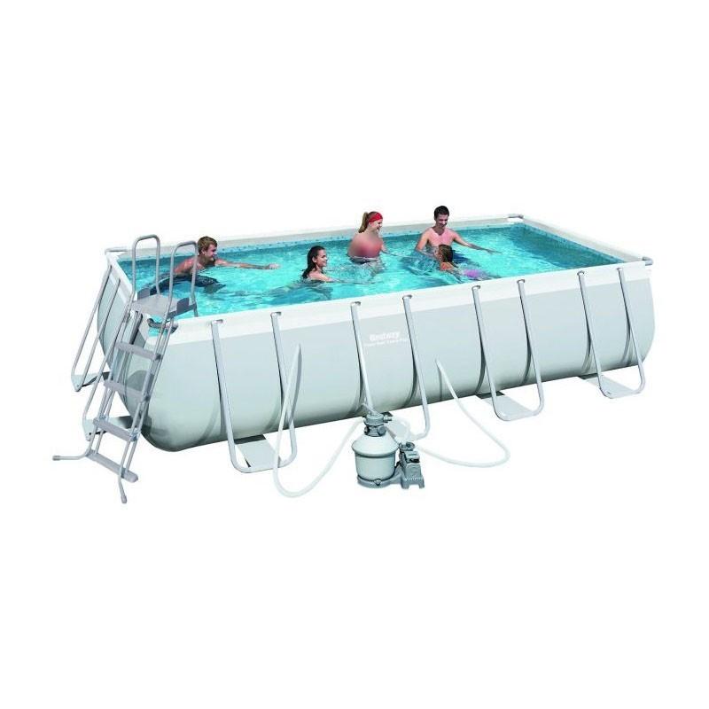 bestway swimming pool 13177 lt family rectangular frame. Black Bedroom Furniture Sets. Home Design Ideas
