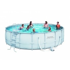 Bestway Swimming Pool With Filter Pump 26000 Lt Circular Steel Pro Frame: 56232
