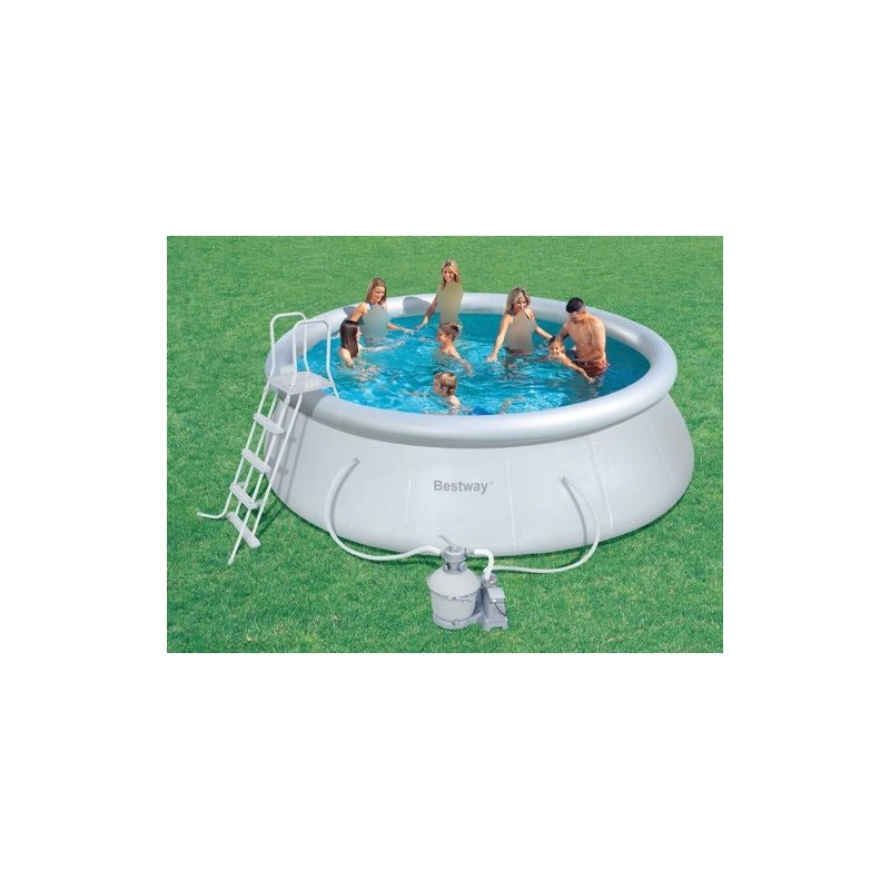 Bestway swimming pool circular fast set 13807 liter 57242 - How many litres in a swimming pool ...