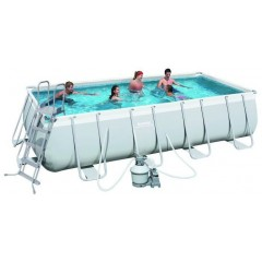 Bestway Swimming Pool 14812 Lt Family Rectangular Frame: 56466